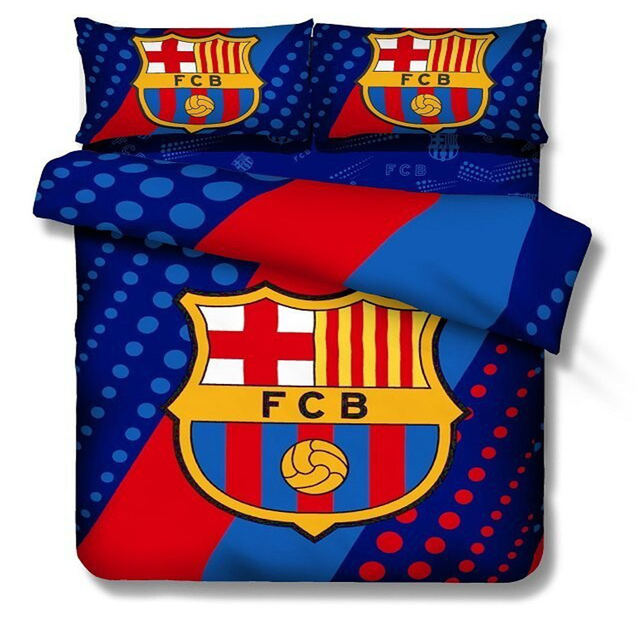 100 cotton kids boys barcelona bedding set footall team quilt cover twin full size bed cover barcelona bedroom