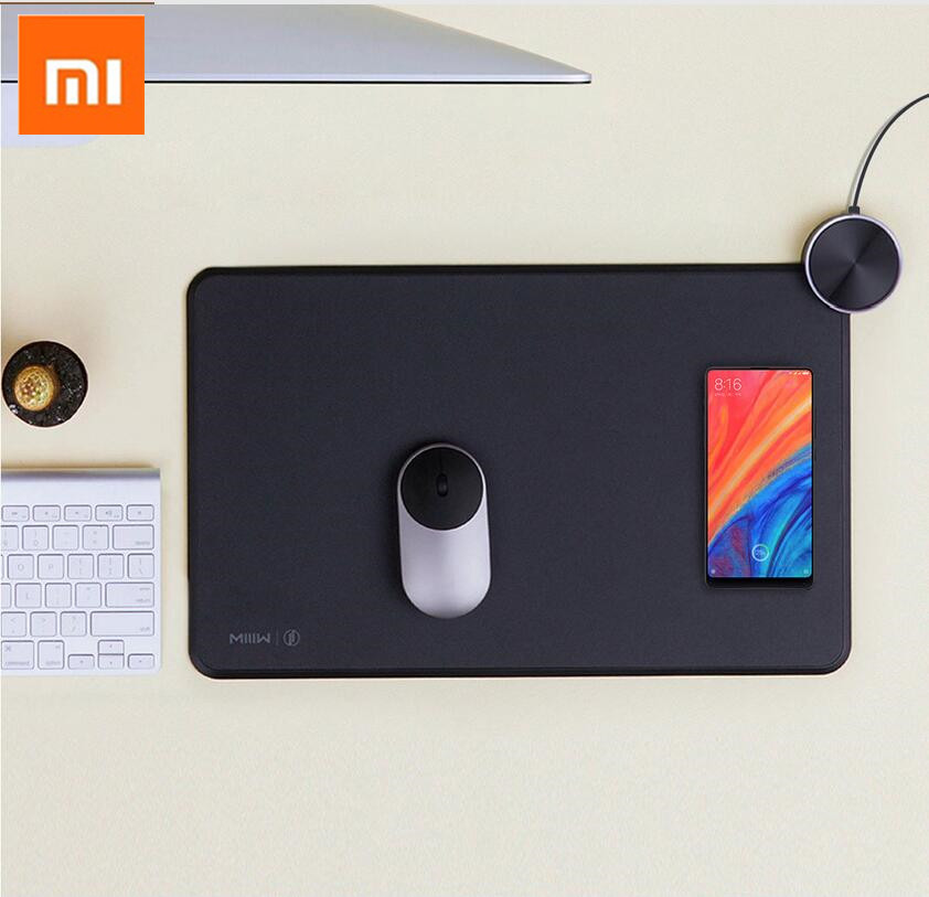все цены на Original MIIIW Xiaomi Gaming Mouse Pad Support Mi Mix 2S Wireless Charging ABS Aluminum Smart mouse pad fast charge Mi Mix2s