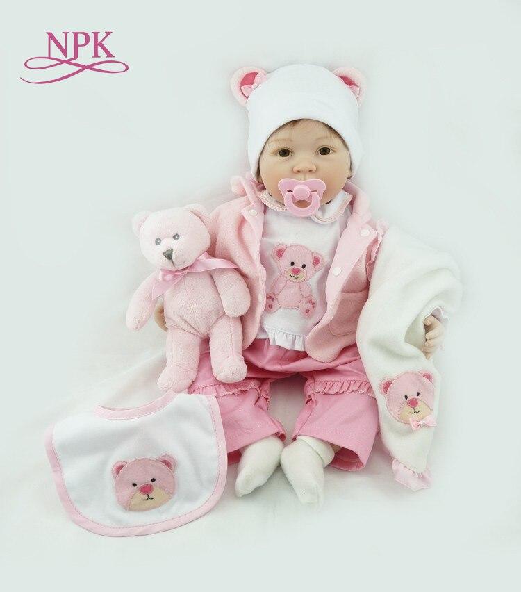 NPK สาวเจ้าหญิงน่ารักตุ๊กตาเด็กทารก Reborn 22 ''soft ซิลิโคนเด็กที่มีชีวิตชีวาเหมือนจริงอย่างแท้จริง Reborns เด็กวันเกิดของขวัญ-ใน ตุ๊กตา จาก ของเล่นและงานอดิเรก บน   1