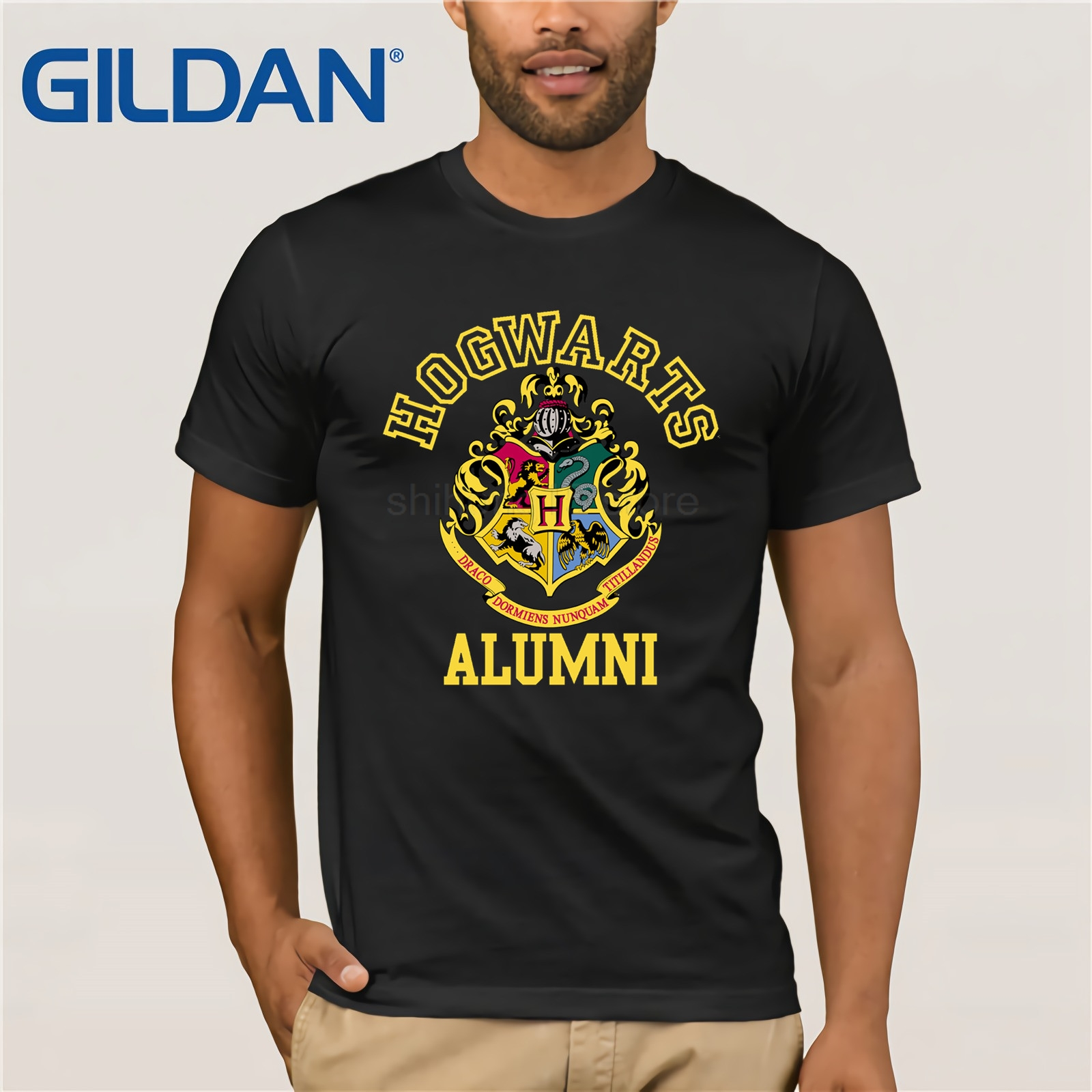 funny t shirt men novelty tshirt Hogwarts Alumni Adult T-shirt