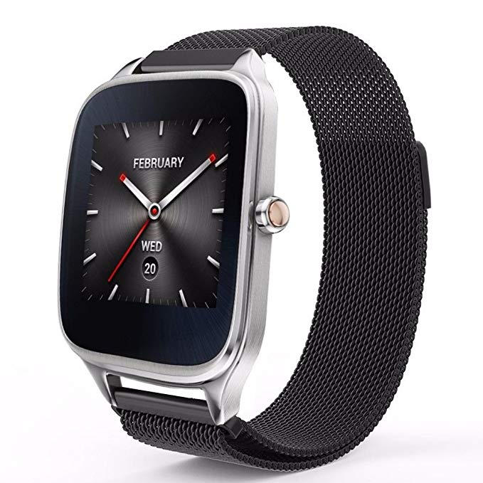 22MM Milanese Magnetic Loop Stainless Steel Band For Asus ZenWatch 1 W1500Q / ZenWatch 2 W1501Q 1.63 Inch