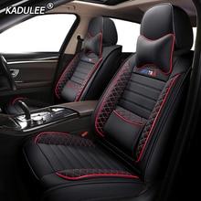 KADULEE Lederen auto seat cover voor vw golf 4 5 6 Volkswagen polo sedan 6r 9n passat b5 b6 b7 tiguan auto accessoires stoelhoezen
