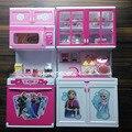 2015 Melhor Presente de Natal Pacote Menina Dos Desenhos Animados Elsa Anna Brinquedos Pretend Play Kitchen Móveis Infantis Definir