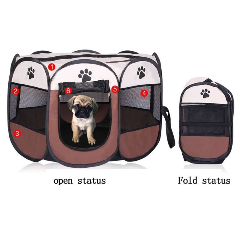 2018 Fashion Dog bed Kennel puppy Lovely Cats House Dog Playpen Folding Portable Pet Fence Oxford Carrying Bag Pet Supply ZL122