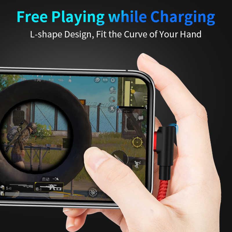 Магнитный кабель GREENPORT на 90 градусов, кабель Micro USB, 3 А, быстрое зарядное устройство, usb-c, шнур для передачи данных для iphone, samsung, зарядное устройство для мобильных телефонов, адаптация