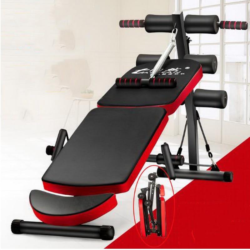 цена на 180610/Multi - functional thickening widening home supine plate sit - ups satiety abdomen machine folding fitness equipment