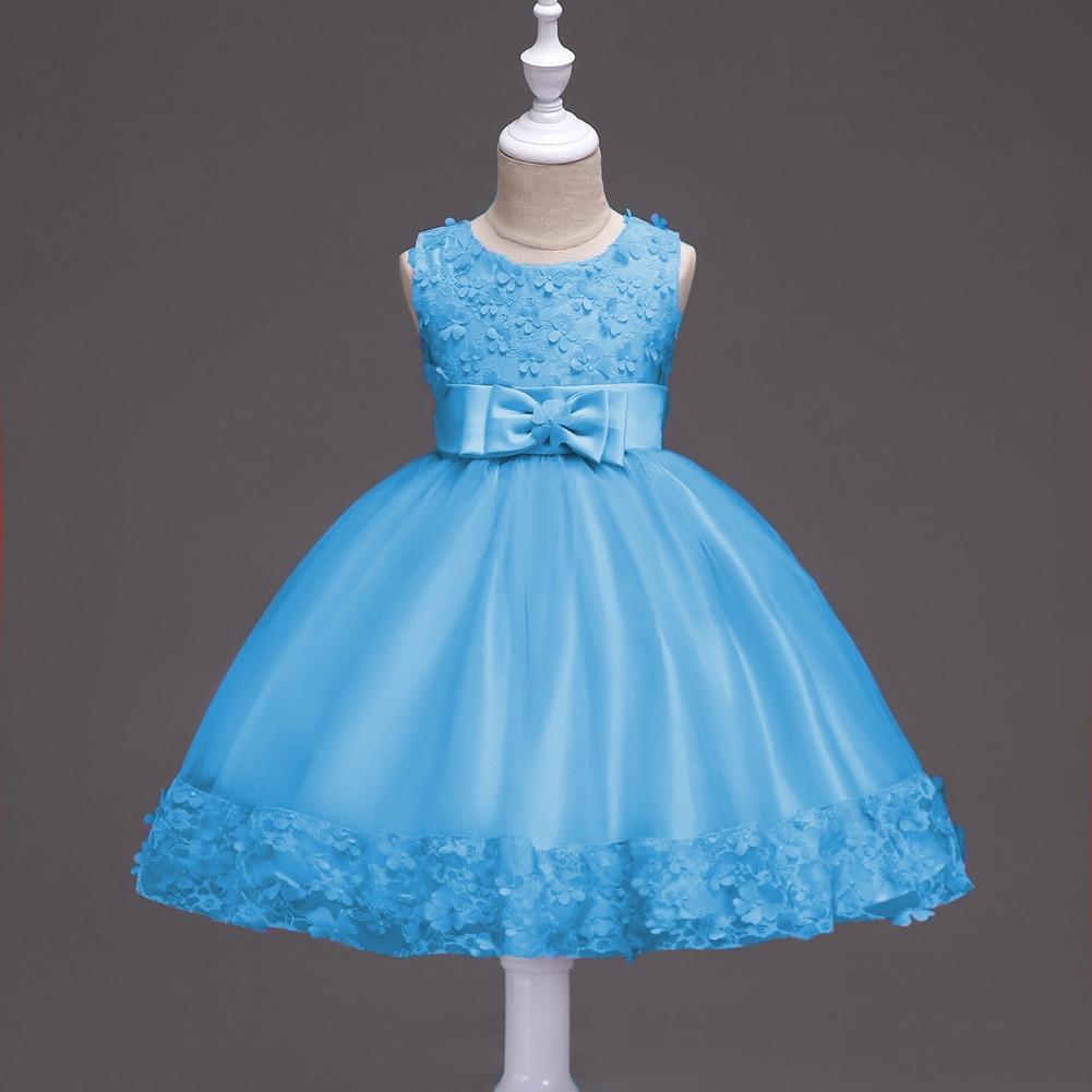 Toddler Big Girls Princess Dress Sleeveless Wedding Party Evening ...