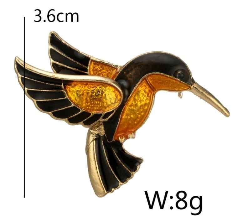 2018新しいカラフルな釉薬フライングバーディータンチョウフラミンゴ金属鳥ブローチピンドレスジャケットピンバッジギフトジュエリー
