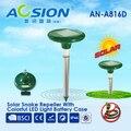 2X Aosion pragas rejeitar nenhum produto químico eco de proteção jardim defletor cobra solar com painel solar e bateria recarregável battries
