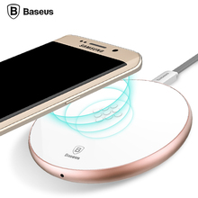 Baseus Qi Wireless Charger Fast Charging Pad For Samsung S7 S6 Edge Note 5 HTC E9 8X Nexus 4 5 6 7 Micro USB Qi Phone Charger
