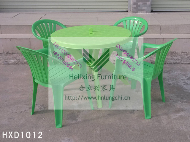 Factory Direct Outdoor Garden Cafe Tables And Chairs Dinette Stall White Plastic Umbrella Combination With Column
