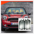 Car SunShade Sunscreen Aluminum Foil Funny Sticker Windshield Wrap Auto Decal Accessories cute for Audi BMW MINI VW GOLF 4 5 6 7
