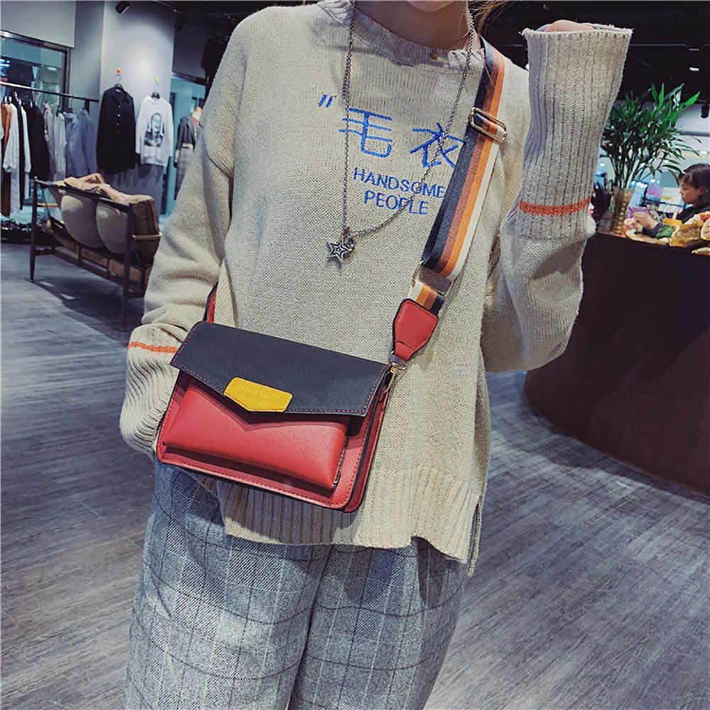 ... OCARDIAN Shoulder Bags Women Joker Color Single Shoulder Slung Multi-layer  Wide Shoulder Strap Bag dff6f538881c0