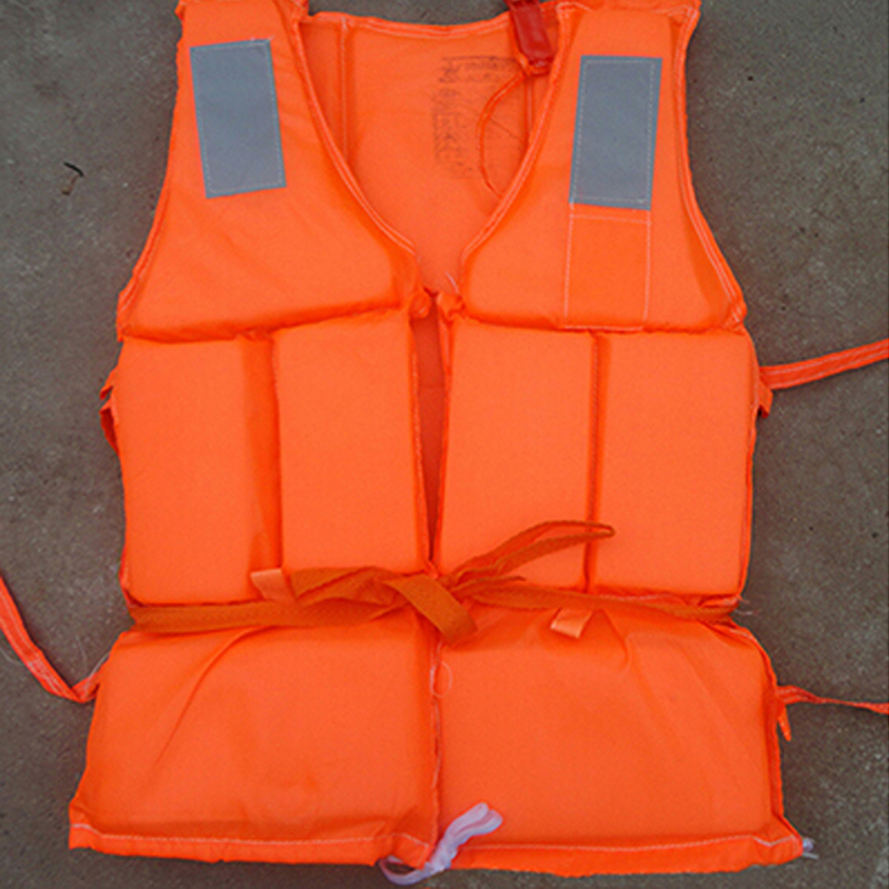 Dewasa Foam Life Jacket Vest Flotation Device + Survival Whistle Prevention Flood Fishing Rafting Drift Sawanobori Water Sports