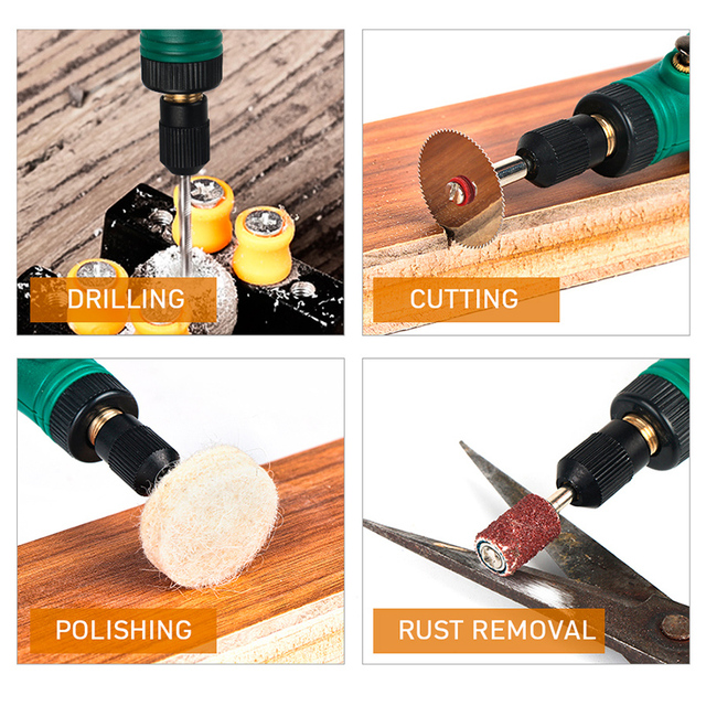 TUNGFULL Cordless Rotary Tool USB Woodworking Engraving Pen DIY For Jewelry Metal Glass Wireless Drill Mini Electric Drill 4