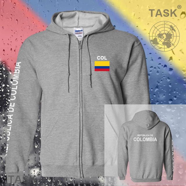 b33e54e84 Colombia COL Colombian mens hoodies and sweatshirt new white jerseys polo  sweat new streetwear tracksuit nations fleece zipper
