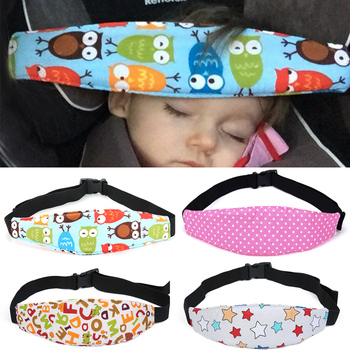 Infants Car Seat Pad Soft Baby Protection With Cover Sleep Head Support Safety Strap Head Belt Car Accessories Cushion Support image