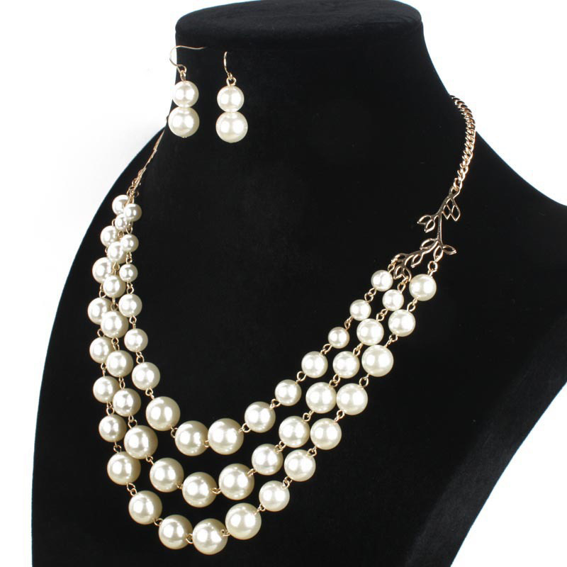 Simulated Pearl Fashion Jewelry Sets New Year Gifts For