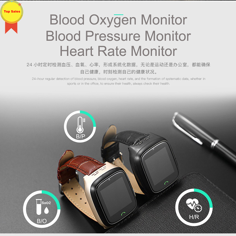 New HD touch screen Elder Smart watch old man Heart Rate bp Watch GPS Track Watch Voice chat SOS Fall down Alarm remote monitor - 6