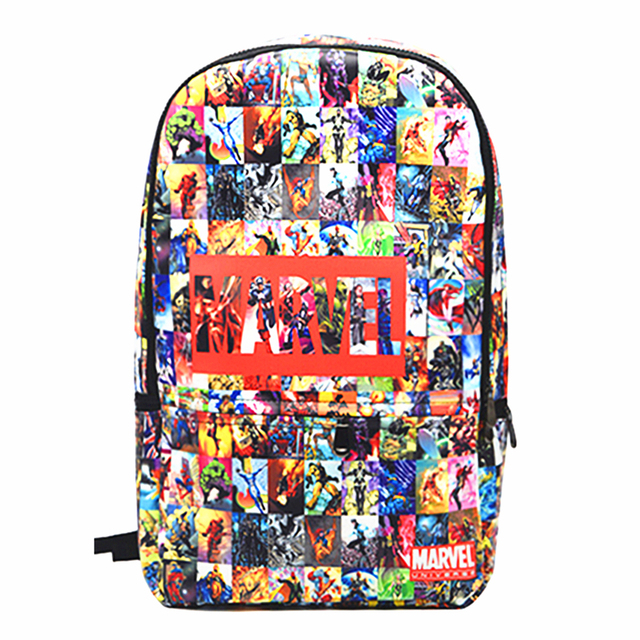 216e752461a2 The Avengers PU Leather Backpack Thor Captain America Iron Man Superman  Batman Spider Man School Bags Travel Bag Free Shipping