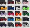 2017 los lazos de los hombres de moda esmoquin clásico mezclado Color sólido corbata de mariposa boda pajarita para hombres Gravata LD8006