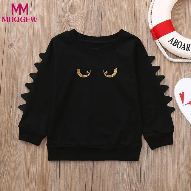 MUQGEW Baby Girls Boys Long Sleeve Cartoon Eyes Soft Toddler Kids Tops Shirt Clothes gloria jeans sweatshirts for girls
