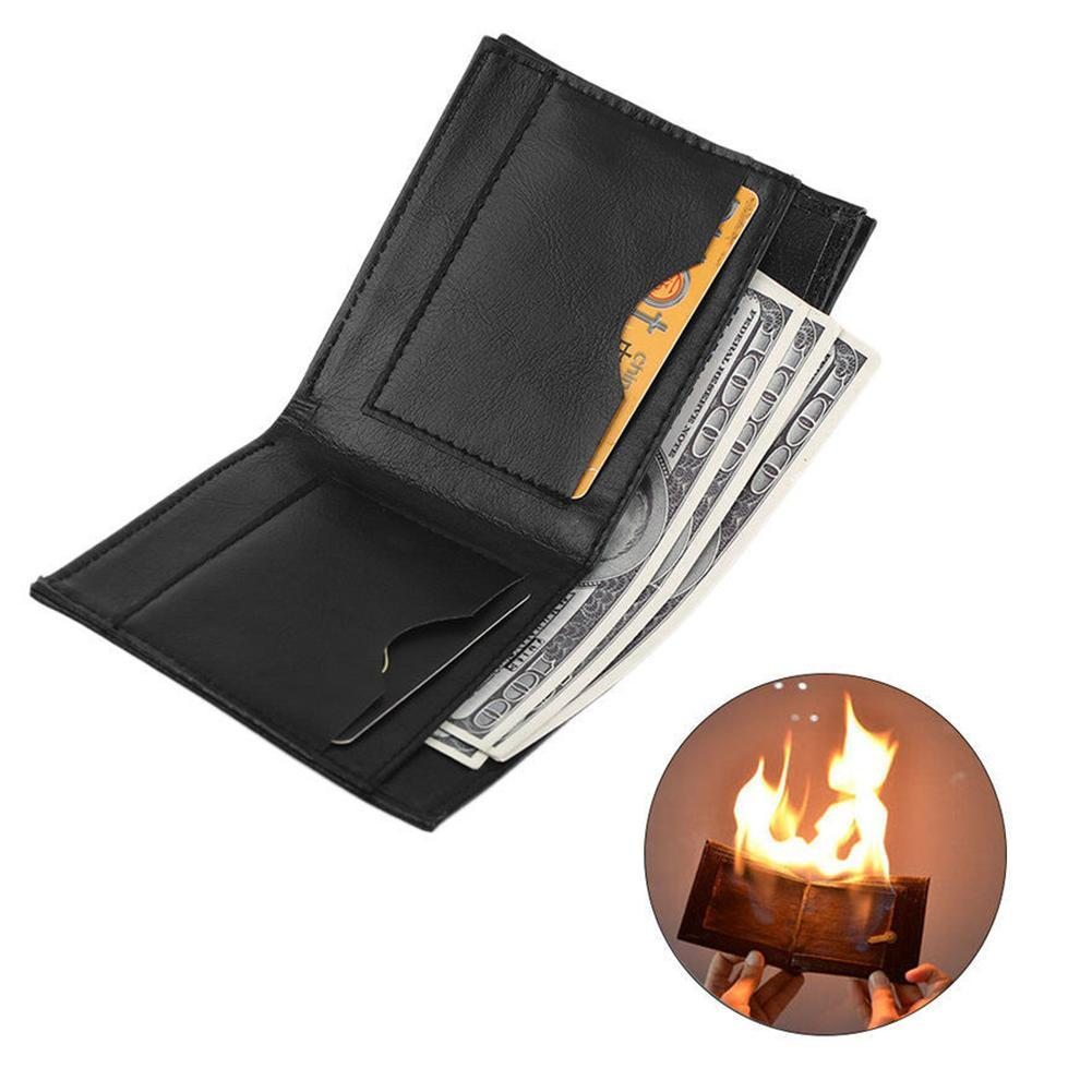 Novelty Magic Trick Flame Fire Wallet Leather Magician Stage Street Inconceivable Show Drop Shipping Free Shipping
