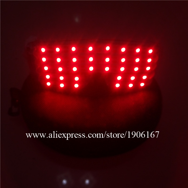 Free Shipping LED Glasses Laser Glasses For Nightclub Performers Party Dancing Glowing Light Up Mask Glasses Halloween Glasses