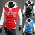2014 Hot Sale Famous Brand  mens Hooded Jacket Coat Cotton men PW23 M-XXL