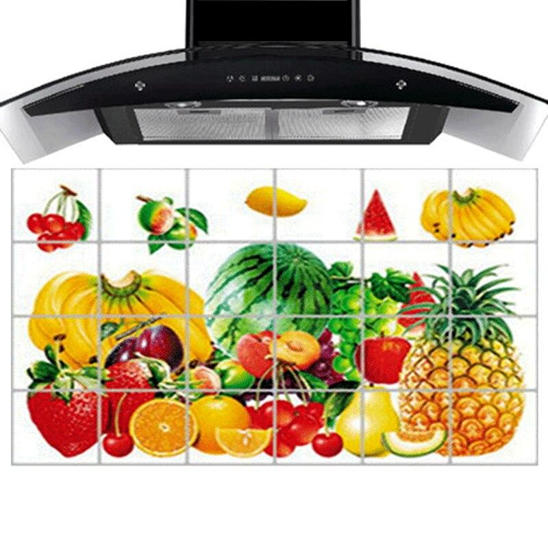 90 Cm 60 Cm Kitchen Decor Mural Tile Sticker Adhesive Fruit Family Portrait Tl913 In Wall