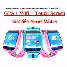 GPS Smart Watch Q750 Q100 детские часы с WiFi 1.54 дюймовый сенсорный экран soscall местоположение устройства трекер для малыша безопасный PK Q50 Q60 Q80