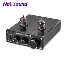 Nobsound Mini amplificador de tubo al vacío HiFi 6J1, preamplificador estéreo Digital de agudos y bajos, Control de tono