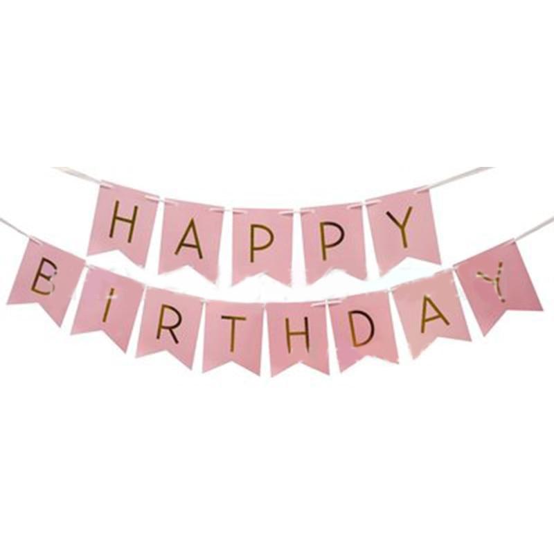 aliexpress com buy cute pink baby kids happy birthday