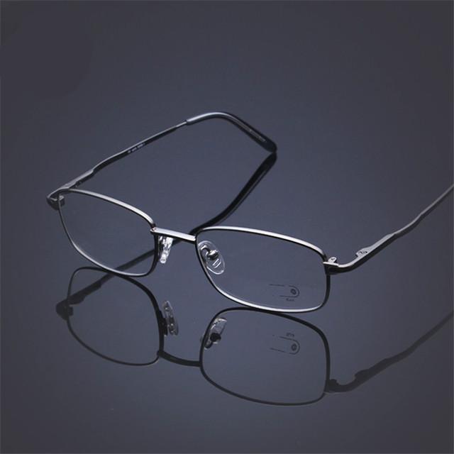 2015 novo B Titânio Óculos Full Frame Armações de Óculos Ultra Light Clássico negócio High end Pode combinar as lentes