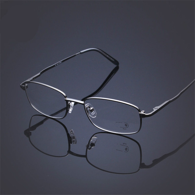 2015 nuevo B Titanio Gafas Marcos de Las Lentes de Fotograma Completo Ultraligero Clásico de gama Alta de negocios Puede coincidir con las lentes