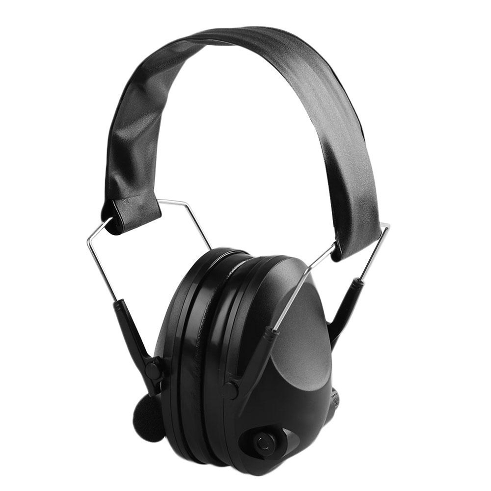 Amzdeal Tactical Anti Noise Headphone Impact Electronic Fold Earphone Protector Earmuff 21SNR Hunt Shooting Hear Soundproof Muff headphone 2018 new tactical anti noise electronic earmuff fold ear sport earmuffs for 21snr professional outdoor travelling gift