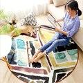 AOVOLL ковры для гостиной Европейский богемный геометрический круглый ковер детские спальные коврики Коврик противоскользящий ручная стирка