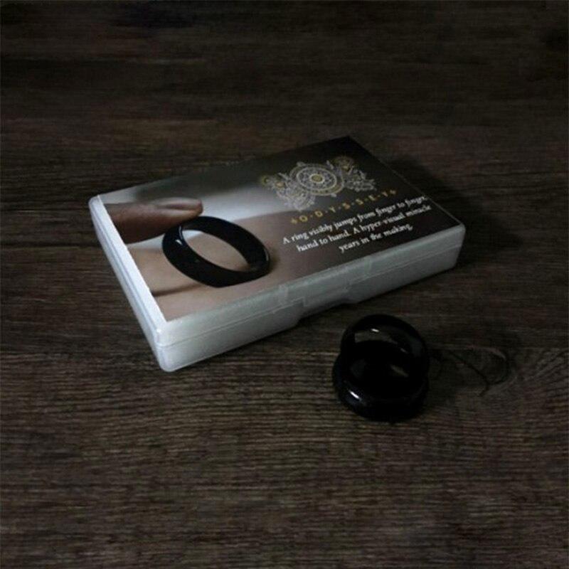 Anel odyssey truques mágicos anel transferência saltos de dedo para dedo magia fechar-se ilusão de rua gimmick mentalismo