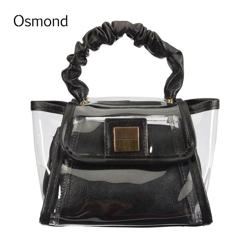 Osmond Claro de La Manera Transparente de Las Mujeres Bolsos de Hombro Bolsas Co