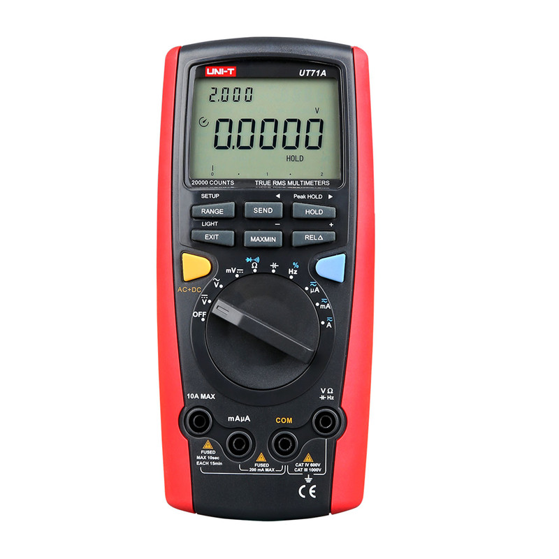 UNI-T UT71A professional Handheld Intelligent LCD Digital AC DC current voltage USB true RMS REL 20000 counts Auto range uni t ut71b professional intelligent lcd digital ac dc current voltage meter usb true rel resistance tester ammeter multitester