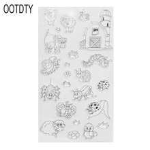 DIY Lovely animals Pattern Transparent Clear Seal Scrapbooking Photo Album Card Decorative Rubber Stamp Sheets love heart cat owl clear stamp scrapbook diy photo album card hand account rubber product transparent seal stamp animal pattern