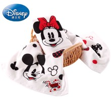 Disney Minnie Mickey couple gauze big face towel 34x75cm 100% Cotton Absorbent Baby child Bathroom Travel Hand Towel Dropship