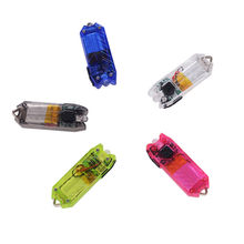 Tube 45LM 2 Modes Mini USB LED Flashlight Keychain Rechargeable Light Lamp Torch Keyring NRJ13(China)