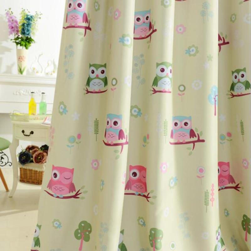 Kids Cartoon Voile Panel Blackout Drapes Blue Curtains Tulle For Living Room Boys Girls Children's Bedroom Sheer Curtain WP220&3