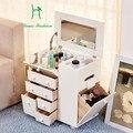 Contratada e contemporâneo em madeira mini arca arca cômoda vestir Coréia armazenamento maquiagem para receber uma mesa clamshell