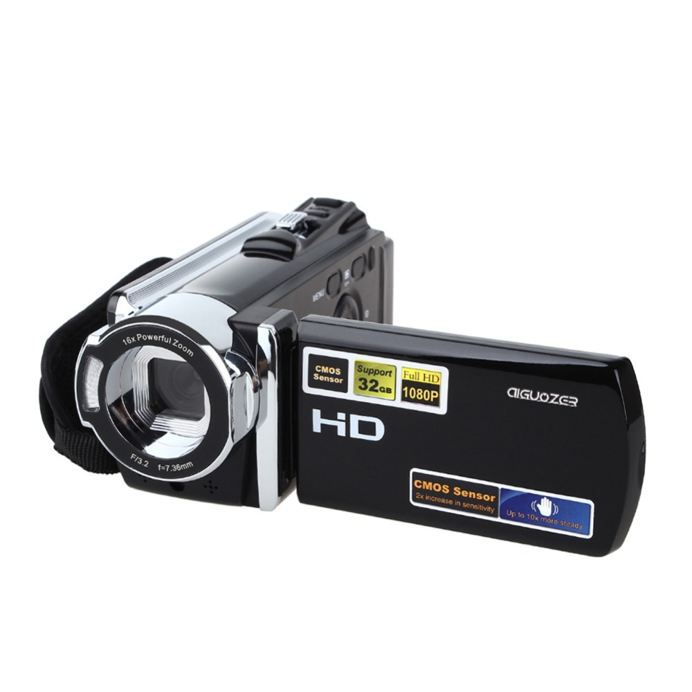 AIGUOZER HDV-604S Digital Video Camera Full HD 1080P 20MP WiFi 3.0 LCD screen 16x Zoom Mini Camcorder DV camera digital video winait electronic image stabilization hdv z8 digital video camera with recording function touch screen