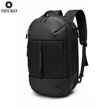 OZUKO New Men Backpacks For 15.6inch Laptop Backpack Casual School Bags Hand Bag Multifunction USB Charging Out door Travel
