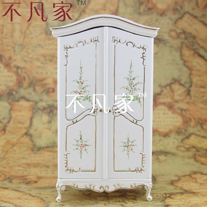 Maison de poupée pour mini ature furniture1: 12 mini meubles couleur dessin armoire