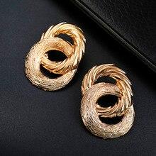 Новые преувеличенные большие серьги-гвоздики для женщин круглые серьги из сплава подарок на свадьбу
