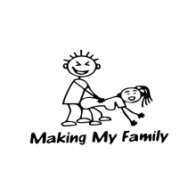 Cool Graphics Making My Family Stick People Decal Funny Car Vinyl Sticker Jdm Stying